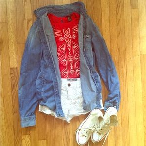 Red Forever21 top
