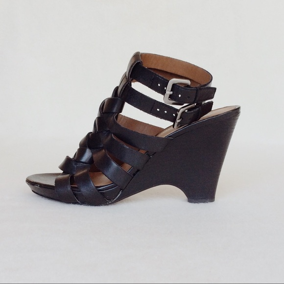 7564a8b3d714 Franco Sarto Shoes - Franco Sarto Huarache Wedge Sandal - Black