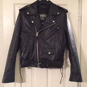 First Genuine Leather Jackets & Blazers - First Genuine Leather Motorcycle Jacket.