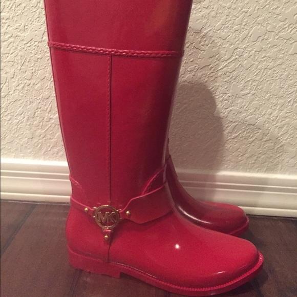 56% off Michael Kors Boots - Micheal Kors size 11 rain boots red
