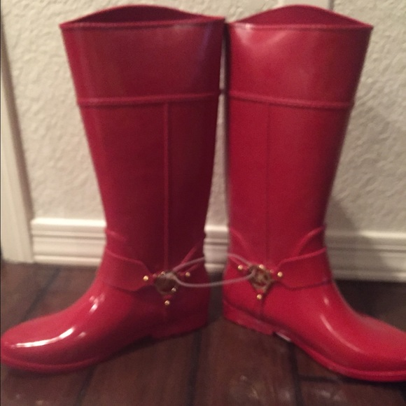 56% off Michael Kors Boots - Micheal Kors size 11 rain boots red ...