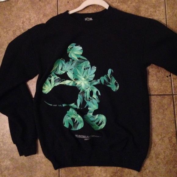 46c67810e042b Dimepiece Sweaters | Designs Weed Mickey Sweatshirt Disney | Poshmark