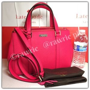 New Kate Spade pink saffiano leather loden Satchel