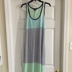 Express blue and green striped summer maxi