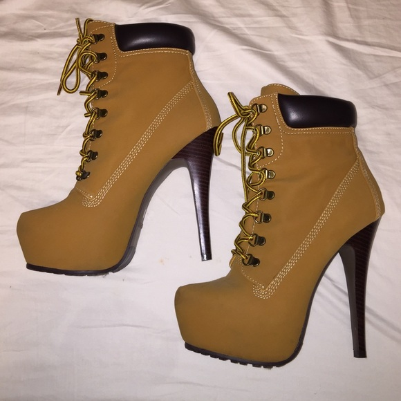 timberland boots high heels for women
