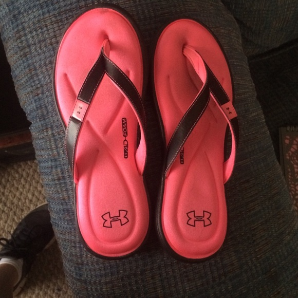 Under Armour Shoes  Pink Memory Foam Ua Flip Flops  Poshmark-3405