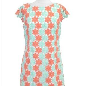 Lilly Pulitzer Dress- Coral & Seafoam Eyelet