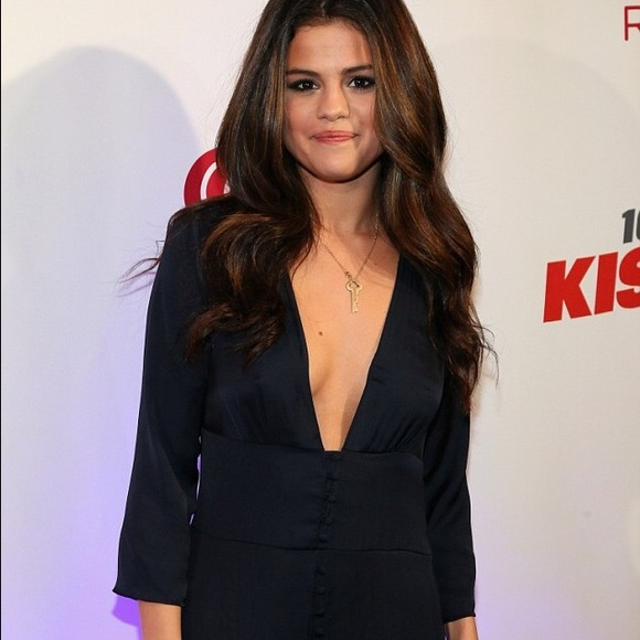 53c608a09772 Zara Trafaluc Silk Jumpsuit Worn by Selena Gomez. M 559160975020b901df01547f