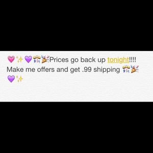 Other - 💗💜💜💗.99 cent shipping and closet sale💗💜💜💗