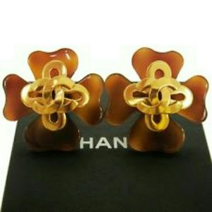 REDUCED Rare Vintage Chanel CLOVER Earrings