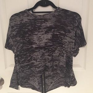 Black and grey light top