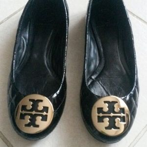 Tory Burch Black Quilted Flats Size 7