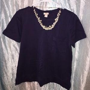 Navy Blue top with front pocket