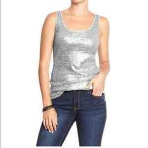 Tops - Old Navy Sequin Tank (knit back)