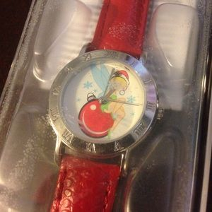 Red Christmas Tinkerbell watch. New with tags!