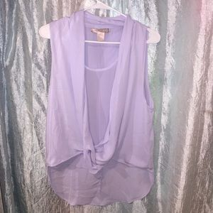 Lavender shear top