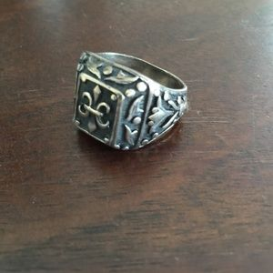 Gothic  steel mens ring