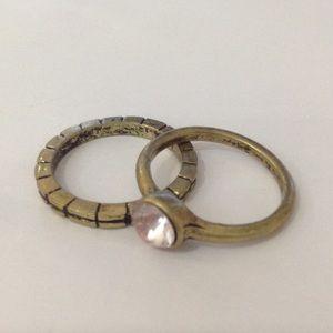 NWOT Antique Bronze Reign Rings (set of 2)