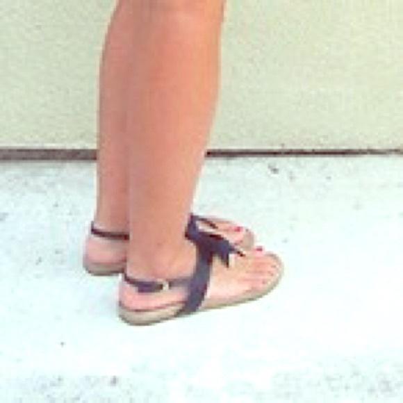 85924677d62 Tory Burch Penny flat sandals ( navy blue). M 5591b6a55020b901df0179fa