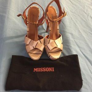 Missoni Coffee Brown Heels