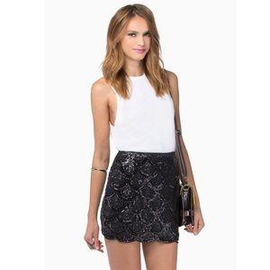 black tobi sequin skirt on Poshmark