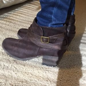 Brown booties in a size 6