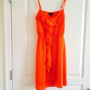 Snap Dresses & Skirts - 💥CLEARANCE Orange spaghetti strap dress