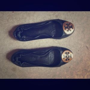 Tory Burch Black Reva Flats