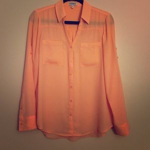 Express Peach Portofino Top