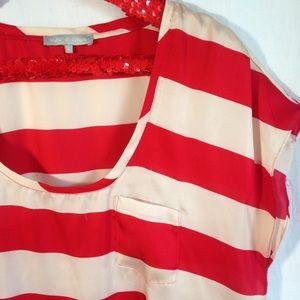 Violet & Claire Tops - Striped Violet & Claire Top Size L