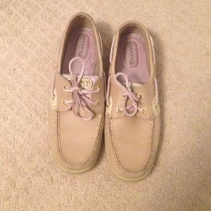Sperry's top-sider pink plaid boat shoes