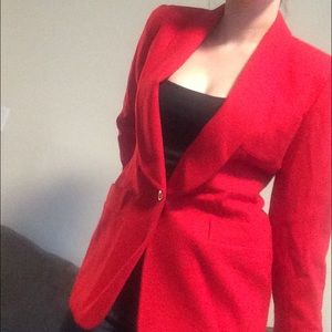 Impeccable Hot Red Wool Christian Dior Blazer