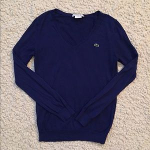 Lacoste Blue long sleeve top/light sweater