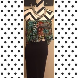 Tops - Aztec Midi Tube Top