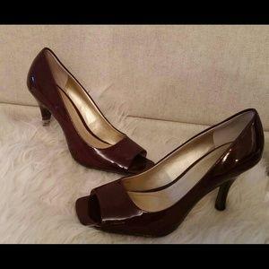 Burgundy Coloured High Heel Shoe