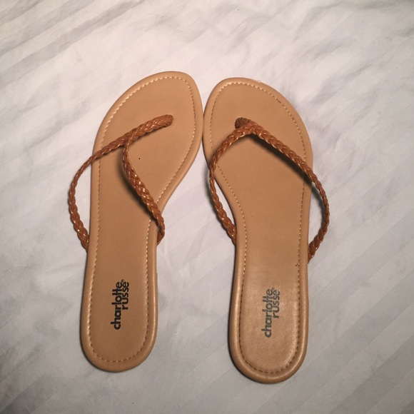e3d2ddb19cb Charlotte Russe Shoes - Charlotte Russe leather braided flip flops🌴