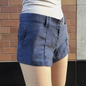 {Elizabeth and James} periwinkle silk shorts