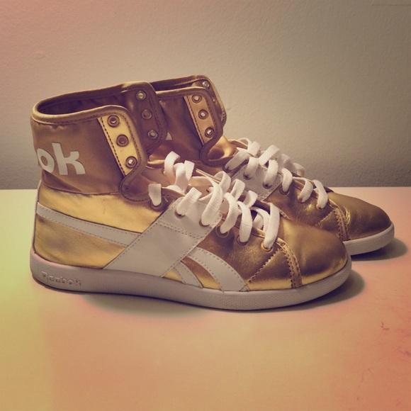 47b92d35c7 Reebok Shoes   Metallica Gold The Top Down Hightops   Poshmark