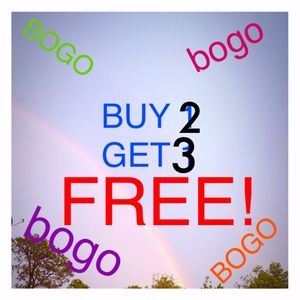 Buy 2 Get 3 FREE from all 3 of my closets!