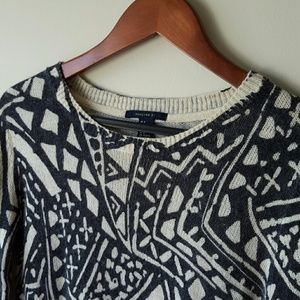 Forever 21 Charcoal & Cream Sweater sz S