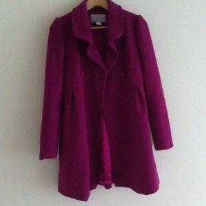 Old navy pique wool-blend coat in beet sugar
