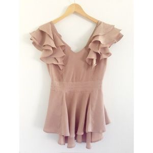 Tops - ❌SOLD ❌Gorgeous Mauve Blush Sheer Top