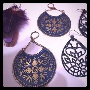 Accessories - 3 pairs bohemian earrings