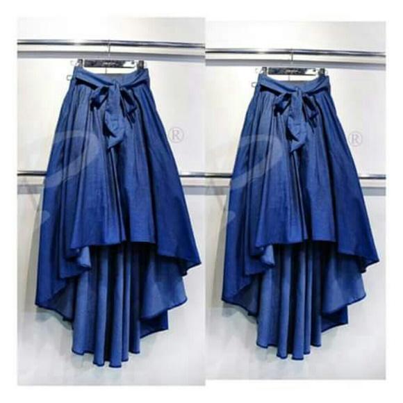 9760b72c2e High Low Demin Skirt