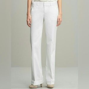 {banana republic} Martin fit trousers in white