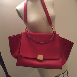celine leather tote price - 34% off Celine Handbags - Celine phantom luggage tote in burgundy ...