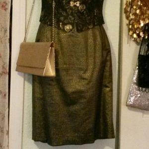 Metallic green/gold skirt