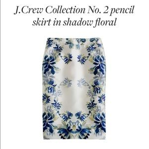 ⛔️SOLD⛔️ J Crew floral No 2 pencil  skirt