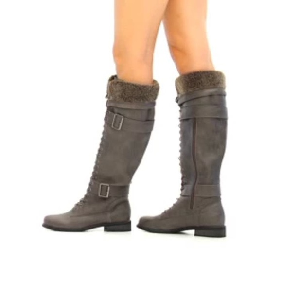 38 justfab shoes lace up knee high boots from buy 3