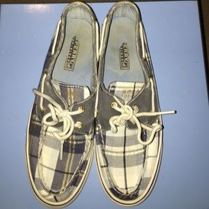 Plaid Sperry Top-Sider boat shoes